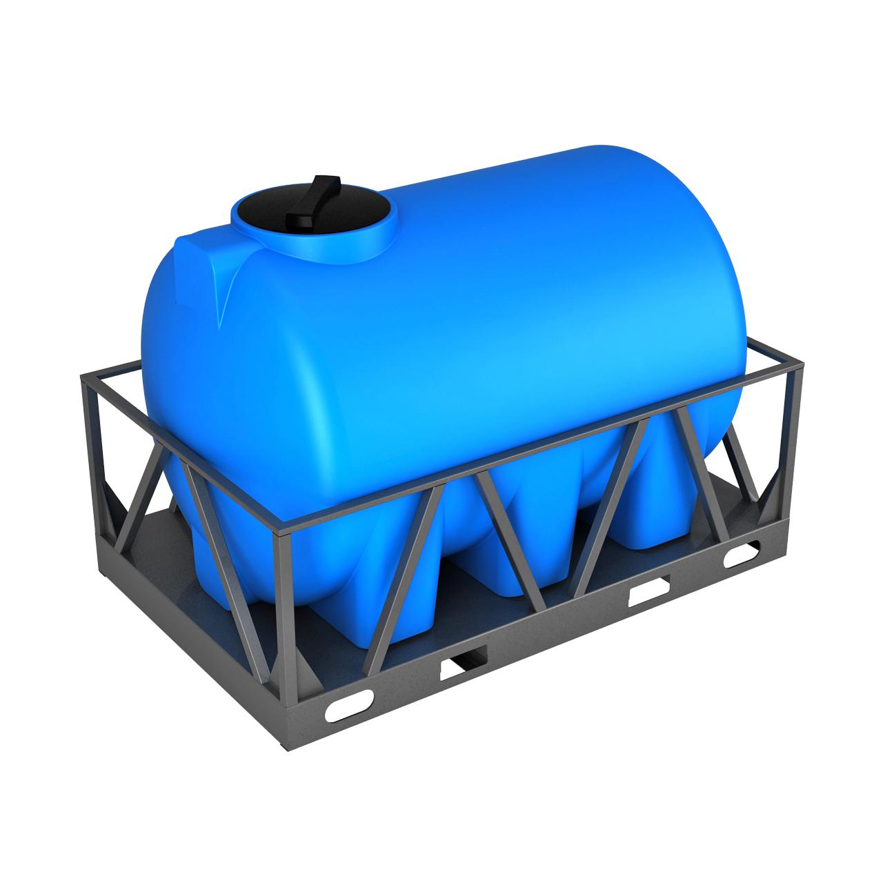 Емкость H 2000 литров в обрешетке