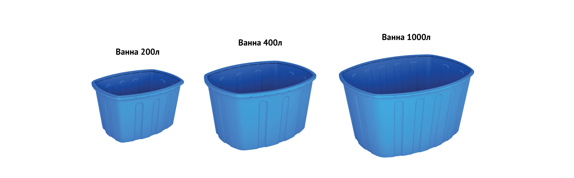 Модели пластиковых ванн