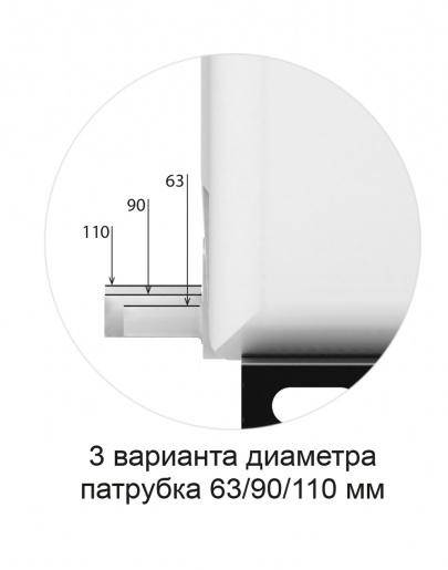 три варианта диаметра 63/90/110